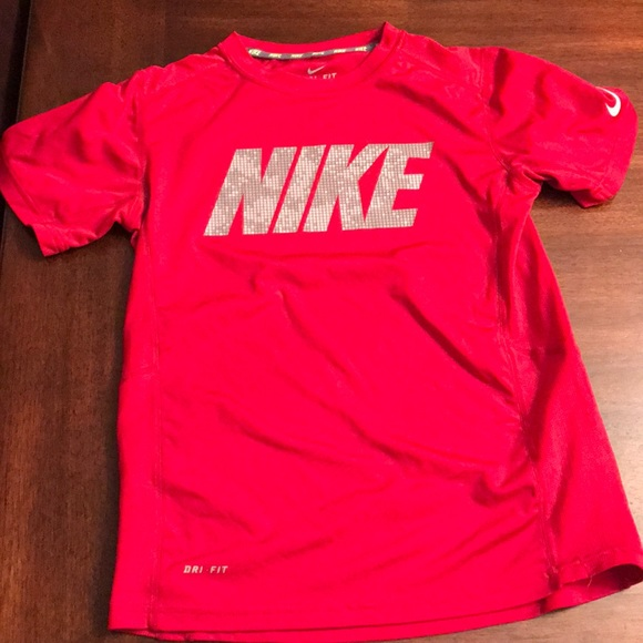 differently new release differently Boys Nike Dri Fit Red Shirt